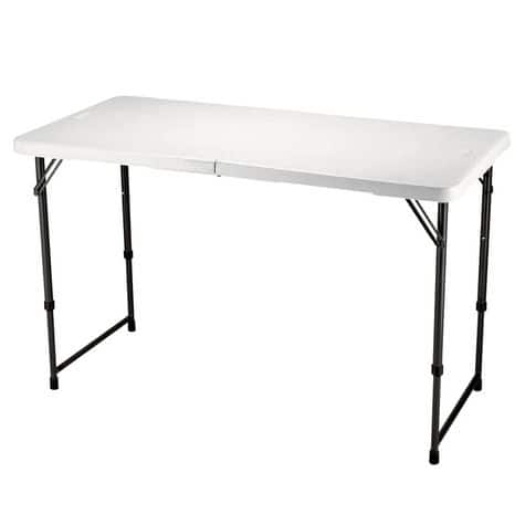 Lifetime 48x24 fold-in-half table $24.88 @Shopko