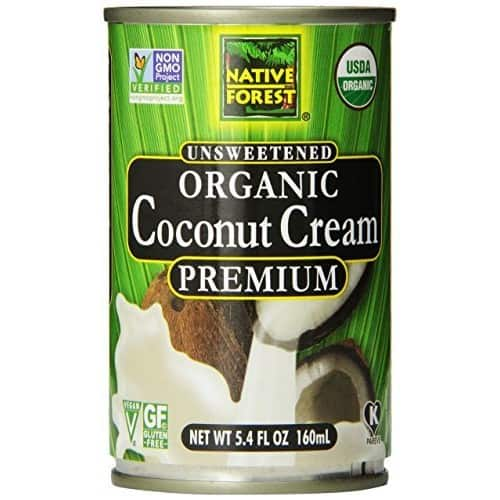 Native Forest Organic Premium Coconut Cream, Unsweetened, 5.4 Ounce (Pack of 12) $8.46