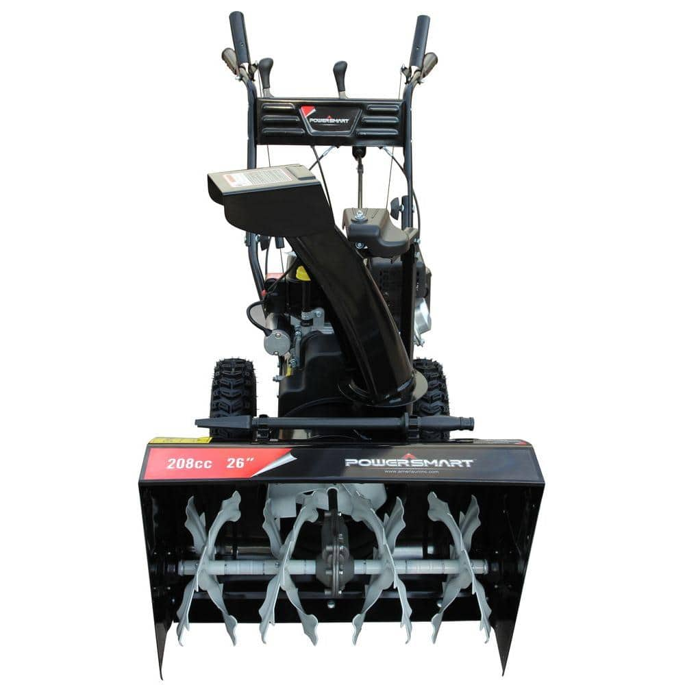 Gas Powered Snow Blowers : Power smart db a inch two stage gas powered electric