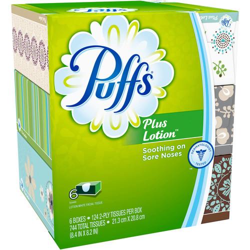 Puffs Plus Lotion Facial Tissues; 6 Family Boxes; 124 Tissues per Box $8.88
