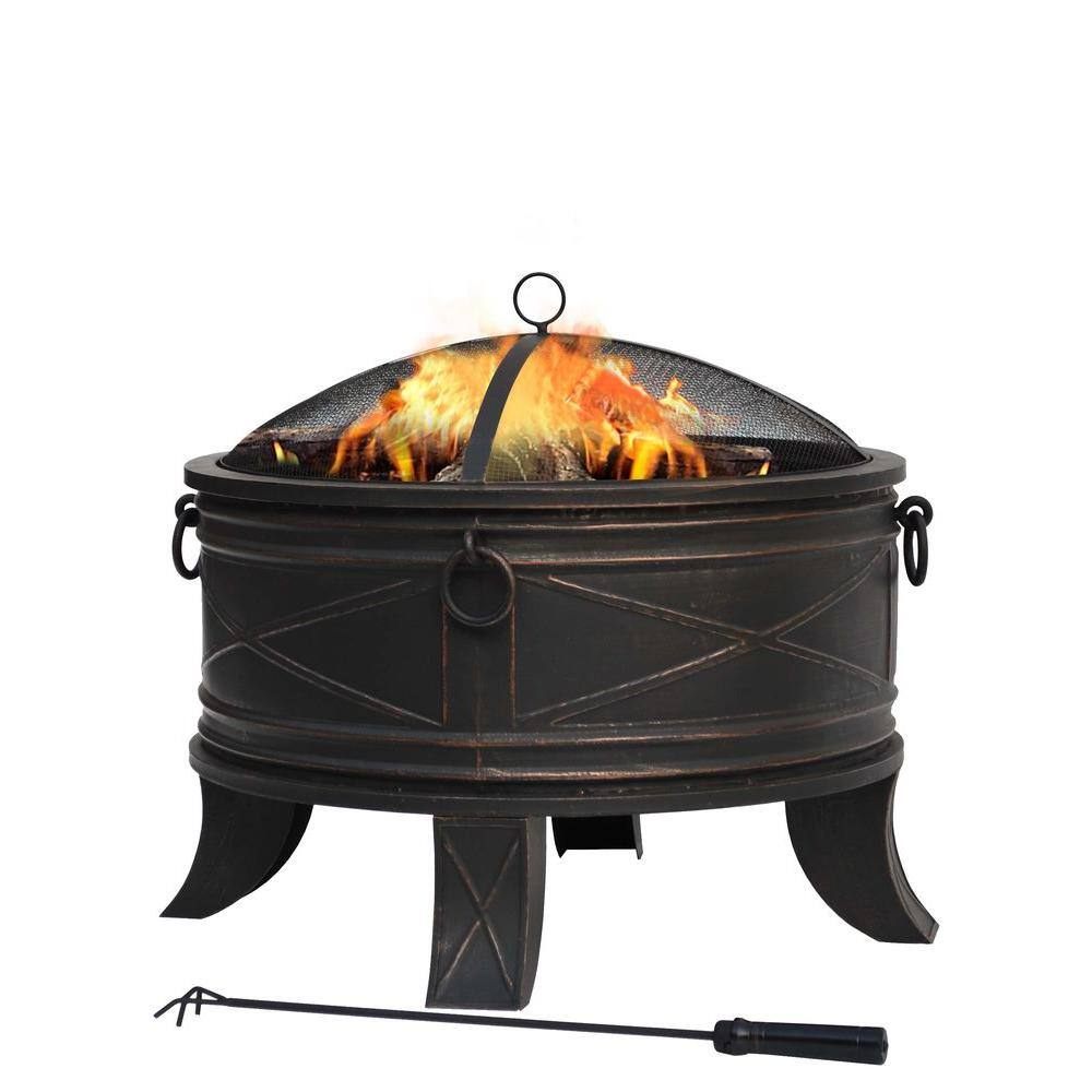 Hampton Bay Quadripod 26 in. Round Fire Pit [YMMV] - $20.03 in store