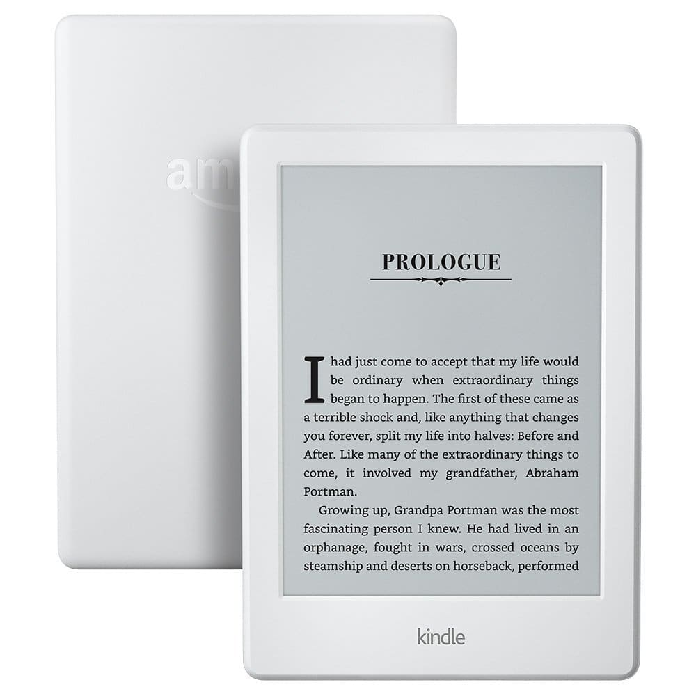 """Kindle E-reader - White/Black, 6"""" Glare-Free Touchscreen Display, Wi-Fi, Built-In Audible - Includes Special Offers $59.99"""