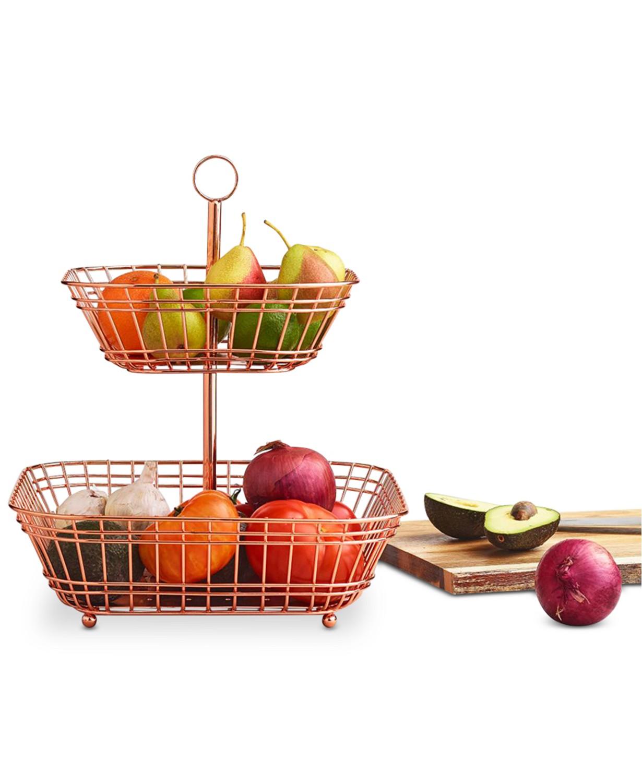 Martha Stewart Collection Copper Tiered Fruit Basket $28.99