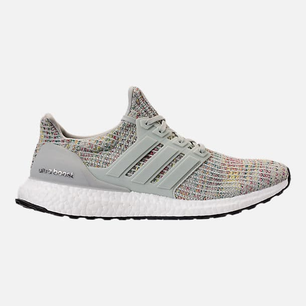Adidas Ultraboost Running Shoes Ash Silver Carbon Core Black