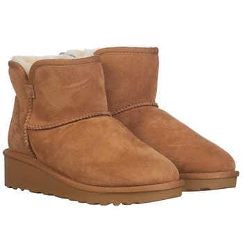 Kirkland Shearling Wedge Boots (2 Colors) + Ships Free $19.97