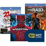 Best Buy:Free $10 Gift Card when you buy two select movies