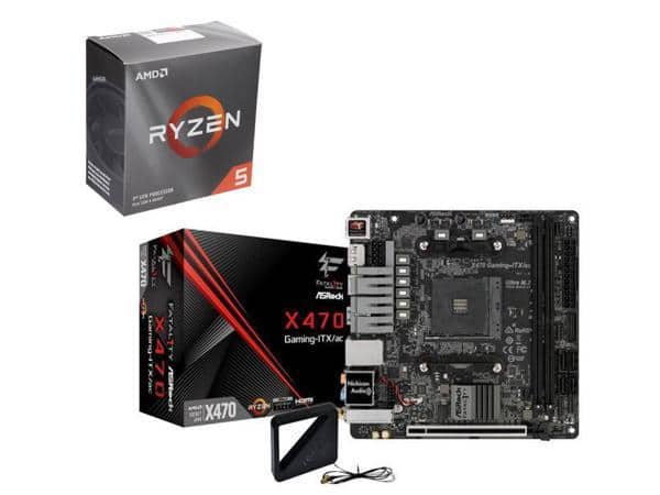 AMD Ryzen 5 3600 6-Core CPU + ASRock Fatal1ty X470 AM4 Mini