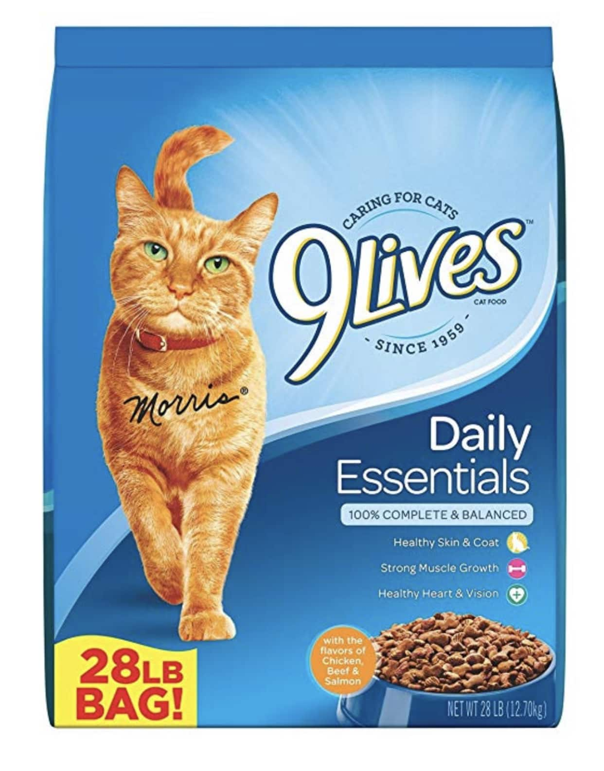 ($7.08) 9Lives Dry Cat Food 28LB For $7.08 + tax S&S YYMV
