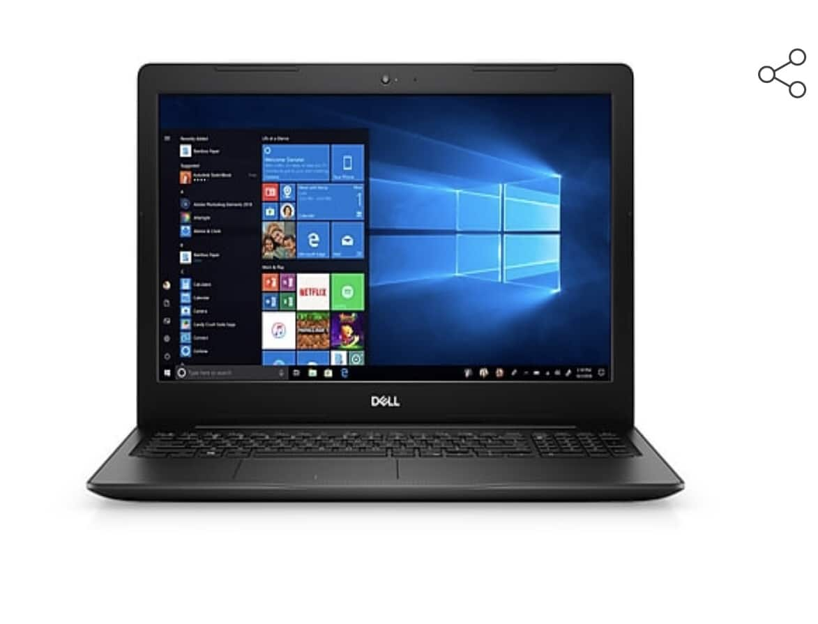 "Dell Inspiron 15 3000 Laptop: Intel Core i7-8565U, 15.6"" 1080p, 8GB DDR4, 256GB SSD, Win 10 $379.99 AC + Free Shipping @ Staples"