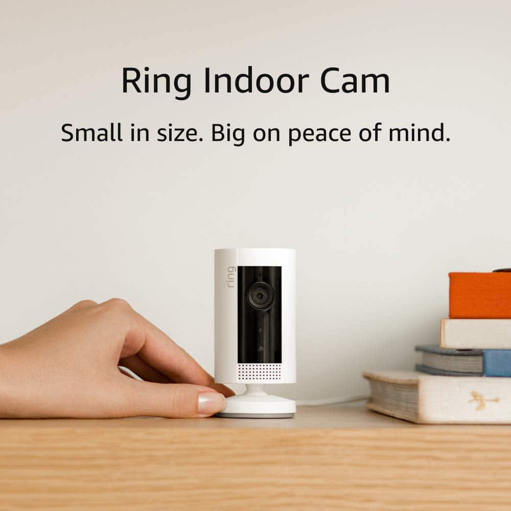 Amazon.com: Ring Indoor Cam, Compact Plug-In HD security camera with two-way talk, Works with Alexa - White $44.99, regularly $59.99