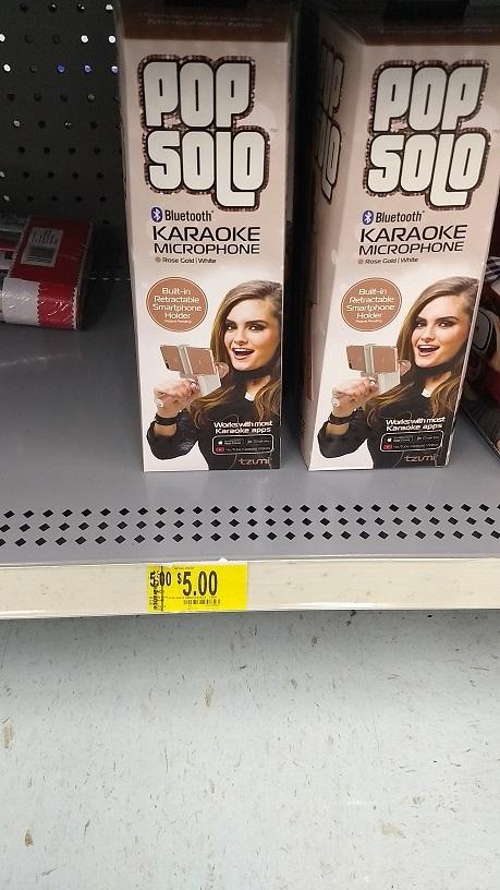 Pop Solo Bluetooth Karaoke Microphone - $5 - Walmart in store - YMMV