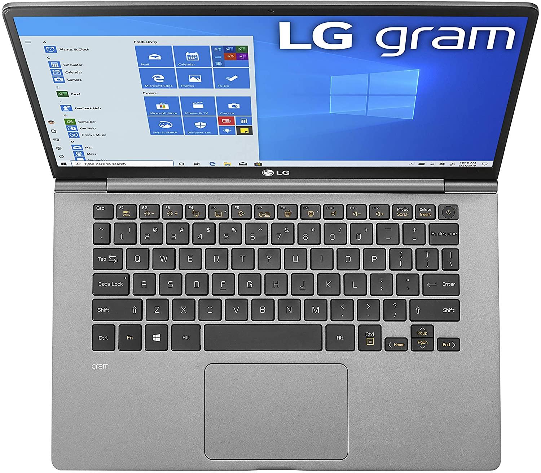 """LG Gram Laptop - 14"""" Full HD IPS, Intel 10th Gen Core i5 (10210U CPU), 8GB DDR4 2666MHz RAM, 512GB NVMeTM SSD $749.99"""