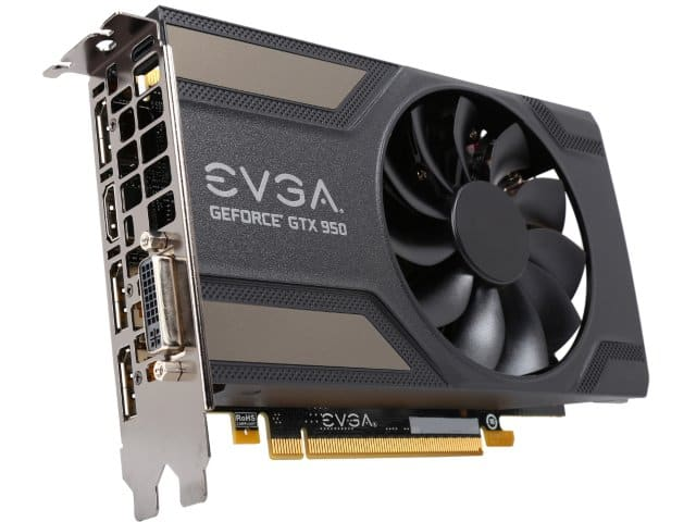 EVGA GeForce GTX 950 02G-P4-2951-KR 2GB GAMING, Silent Cooling Gaming Graphics Card $100.59 AC/AR