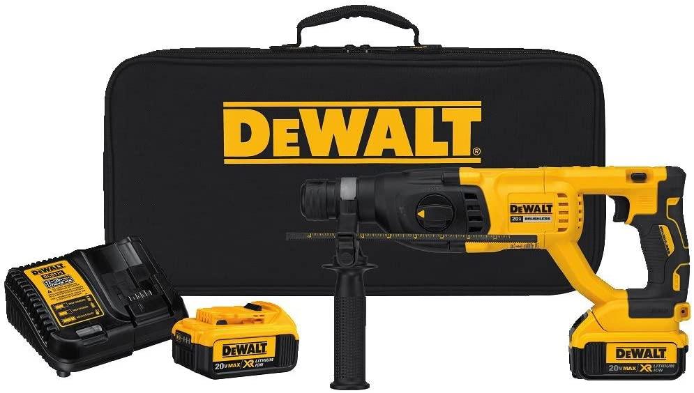 Dewalt SDS Hammerdrill ( DCH133 ) combo kit w/ two 4ah batteries - Home Depot  - $199
