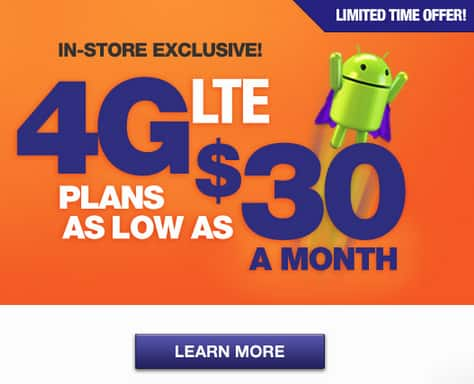 MetroPCS - $30/month for Unlimited Talk/Text/Data + first 250 MB @4G - Activate in-store