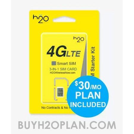 Walmart.com - H2O Wireless (AT&T MVNO) Prepaid SIM Card with Free First Month -$10 (UNLIMITED Talk/Text/4GB LTE)