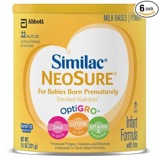 Similac NeoSure Infant Formula with Iron, Powder, 13.1 Ounces (Pack of 6) $14.94