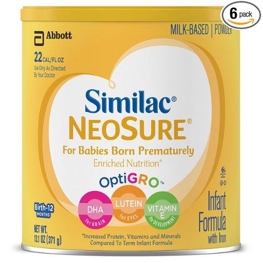 Similac NeoSure Infant Formula with Iron, Powder, 13.1 Ounces (Pack of 6) $14.94