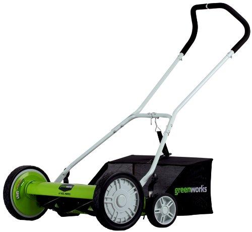 GreenWorks 25062 18-Inch Reel Lawn Mower with Grass Catcher $35.94 Amazon FS