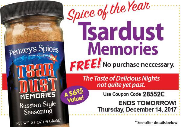 FREE In-Store - Penzeys Spices - Tsardust Memories Russian