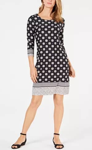 Printed Shift Dress, Created for Macy's $12.96
