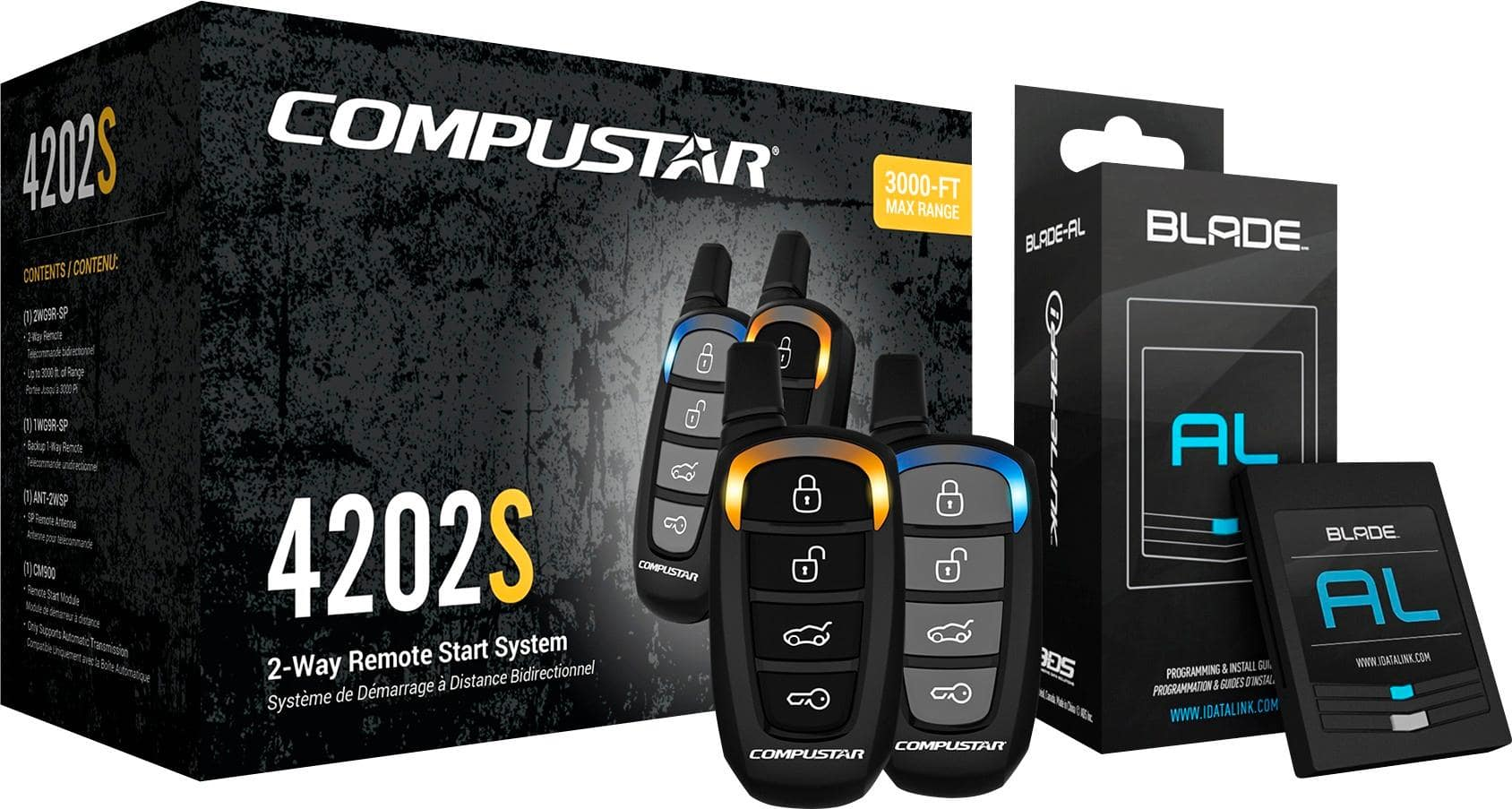 Compustar - 2-Way Remote Start System - Black with Geek Squad Installation and Directed Electronics - Ball Bearing Tilt Switch at Best buy $200