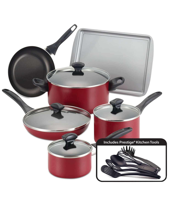 Farberware 15-Pc. Non-Stick Cookware Set, free shipping @Macys $43.93