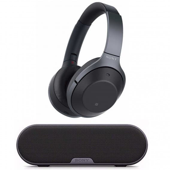 Sony Wireless NC Headphones (Black) with Portable Wireless Speaker $298 shipped