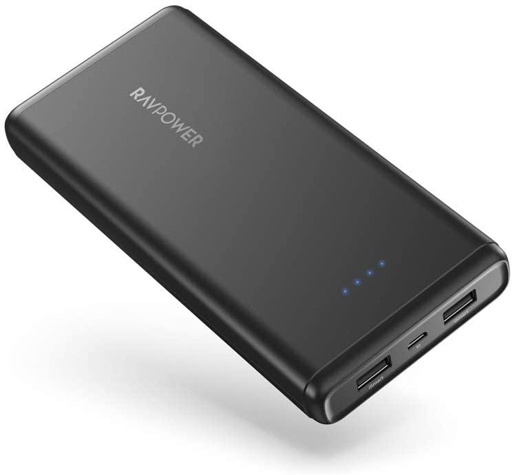 Portable Charger RAVPower 20000mAh Power Bank USB External Battery Pack Dual iSmart 2.0 USB Ports $19.99