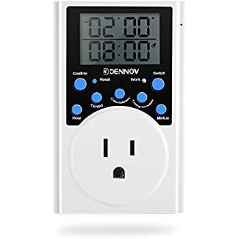 Dennov Multifunctional Digital Timer Outlet Switch  $9.49 FS for Prime