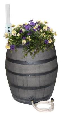 Home Depot-Decorative Rain Barrel Kit with Planter $90 (RR $170).  Free shipping.