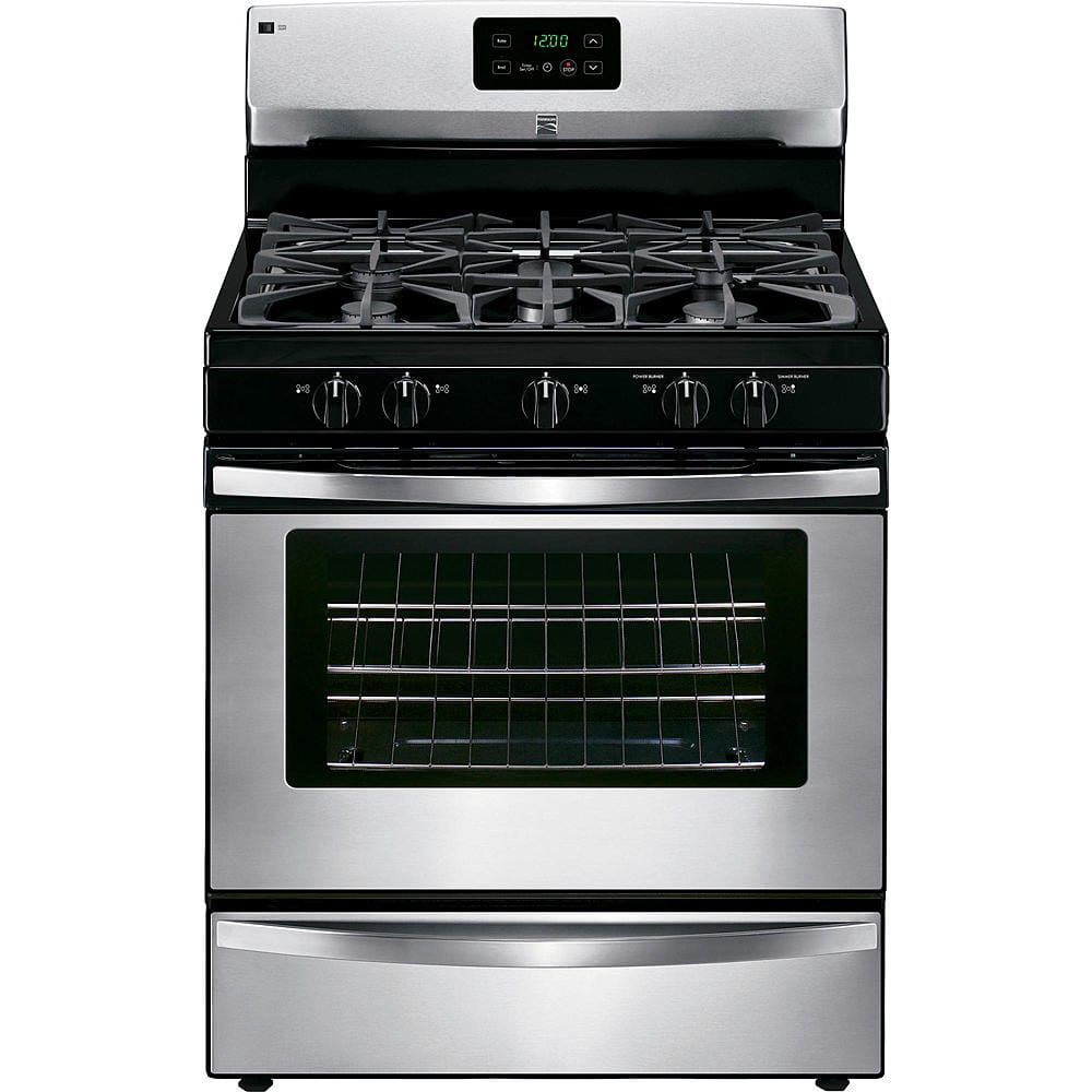 Kenmore (5 burner) Gas Range  - Stainless Steel $450 (Reg $850).  Free delivery from Sears.