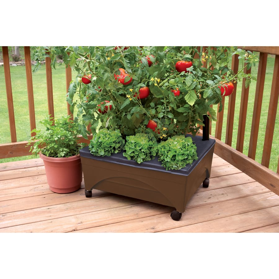 "Emsco Group 24""x20"" Resin Raised Garden Bed W/ Casters"