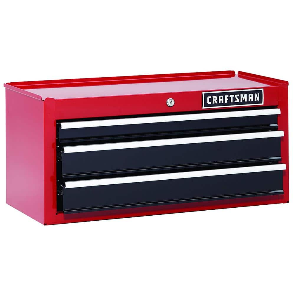 """Craftsman 26"""" 3-Drawer Heavy-Duty Middle Chest $90.  Reg $167. SYW members get $27 in points.  Free in store pick-up. 5/19/18 only."""