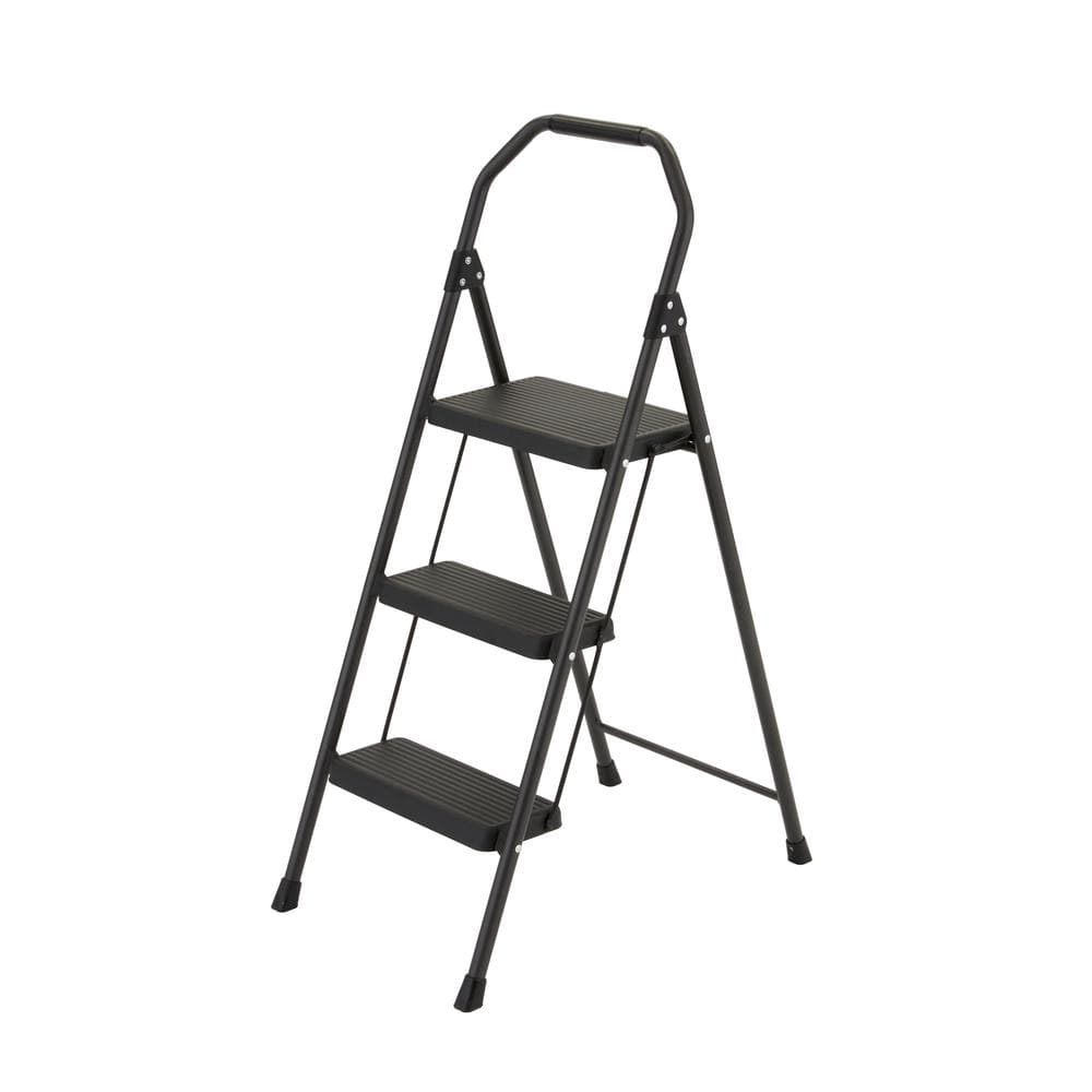 Surprising Gorilla Ladders 3 Step Compact Steel Step Stool 225Lb Caraccident5 Cool Chair Designs And Ideas Caraccident5Info