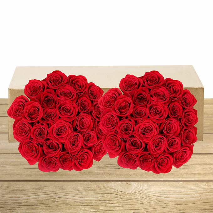 50 Stem Valentine S Day Red Roses 50 Free Shipping From Costco