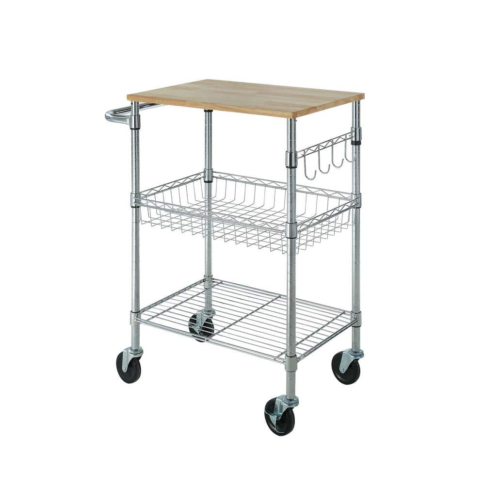 Small Kitchen Cart with Rubber Wood Top $39.  Reg $55.  Free shipping from Home Depot. 5/11/19 only.