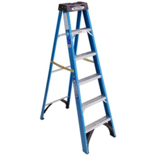 Werner 6-ft Fiberglass Type 1 - 250 lbs. Step Ladder - $59.96 or $49.96