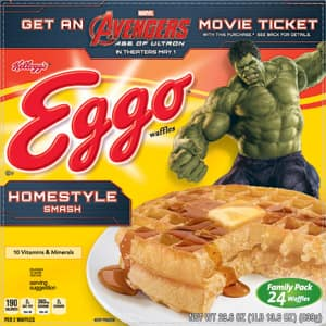 Avengers: Age of Ultron $10 e-Movie Cash with purchase of Kelloggs Eggo Waffles 24 pak for $4.78 at Walmart