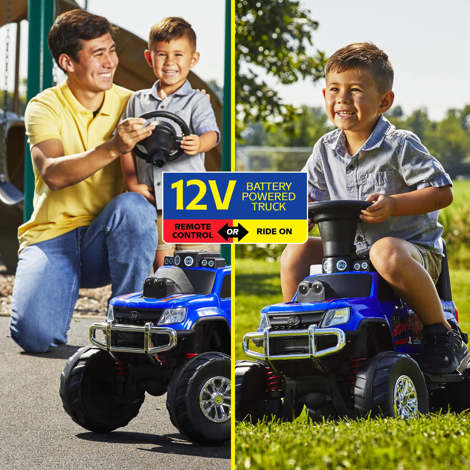 Walmart: Huffy 12V Battery-Powered Remote-Control Monster Truck Ride-On Toy for $39. Free Shipping.