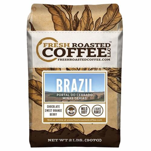 50% off coupon on Brazilian Fresh Roasted Coffee $14.98