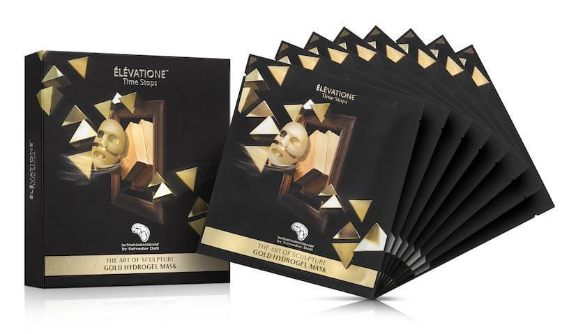 50% off pack of 8 Gold Hydrogel masks from Elevatione by Salvador Dali $200