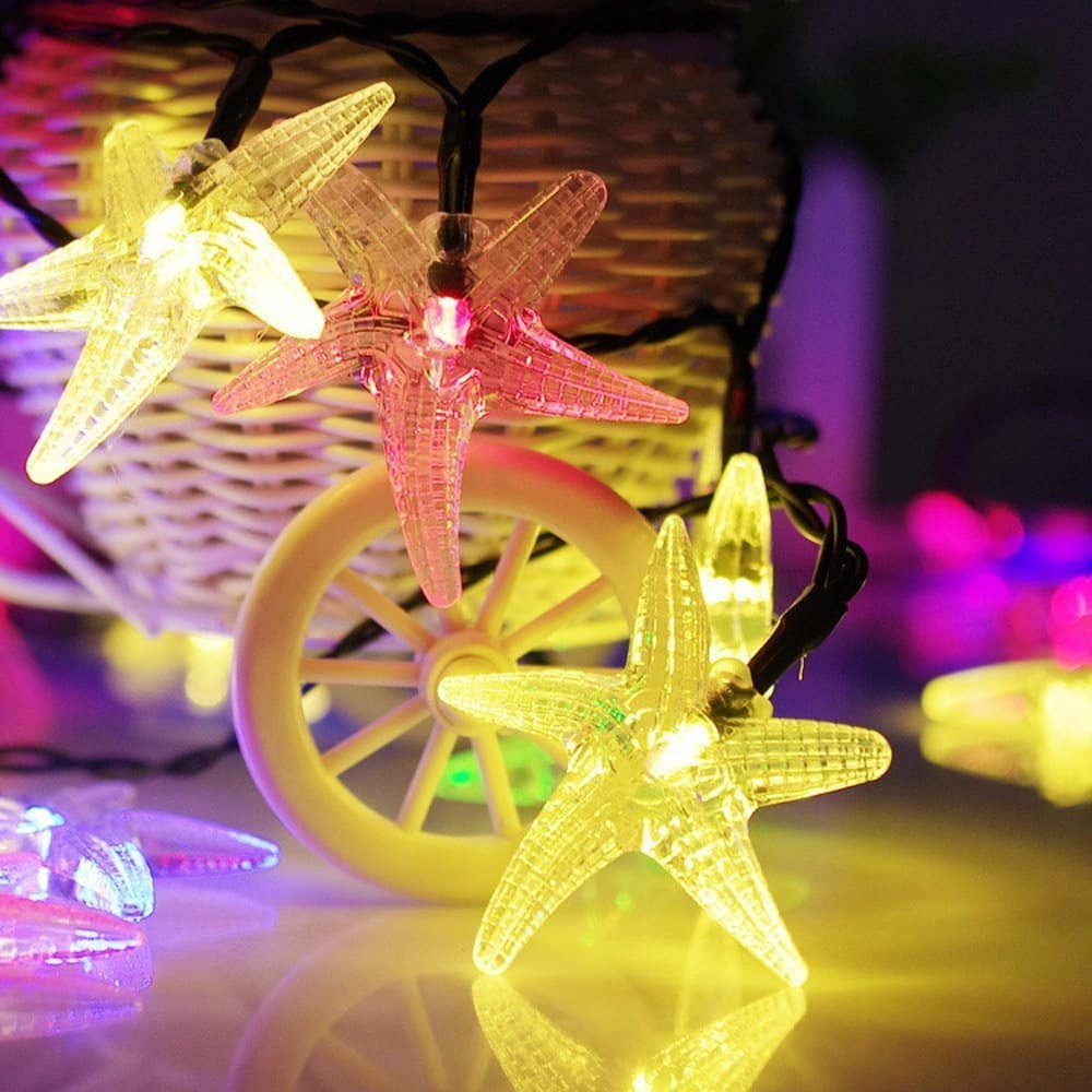 Solar String lights, 30LED RGB party string lights for decorations $4.99