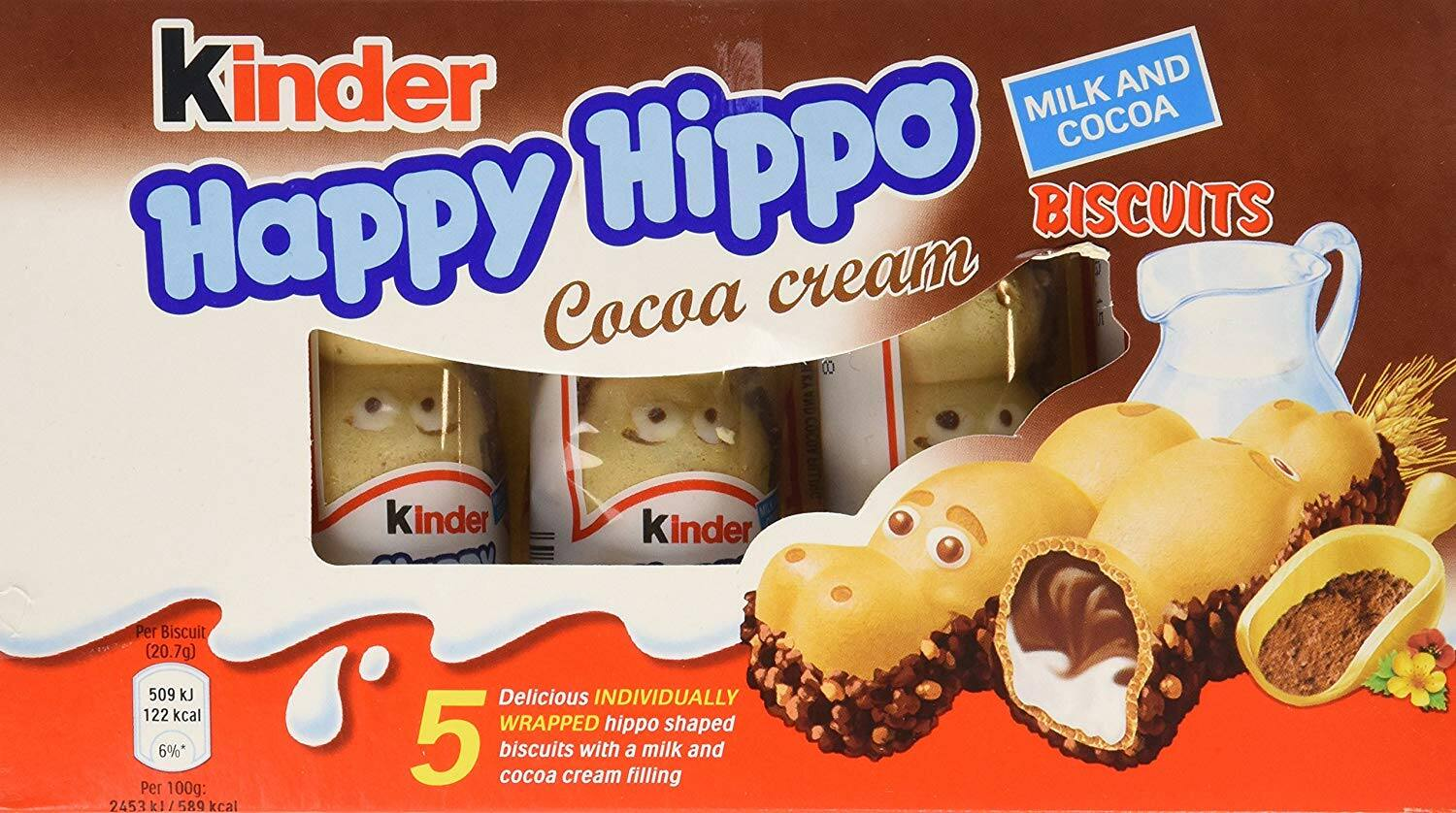 Kinder Happy Hippo - Cocoa, CASE, 10x(20.7g x 5) - $19.99