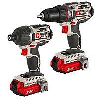 eBay Deal: PORTER-CABLE 20V MAX Lithium 2-Tool Combo Kit PCCK602L2R refurbished $97 + FS @ eBay