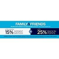 Sears Deal: Sears Friends & Family - 5/3 - 5/5 9AM: 15% off or 25% back in SYW points
