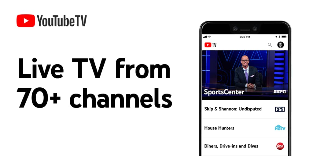 YouTube TV  + Premium Channels - Free 2 Week Trial - New Customers Only