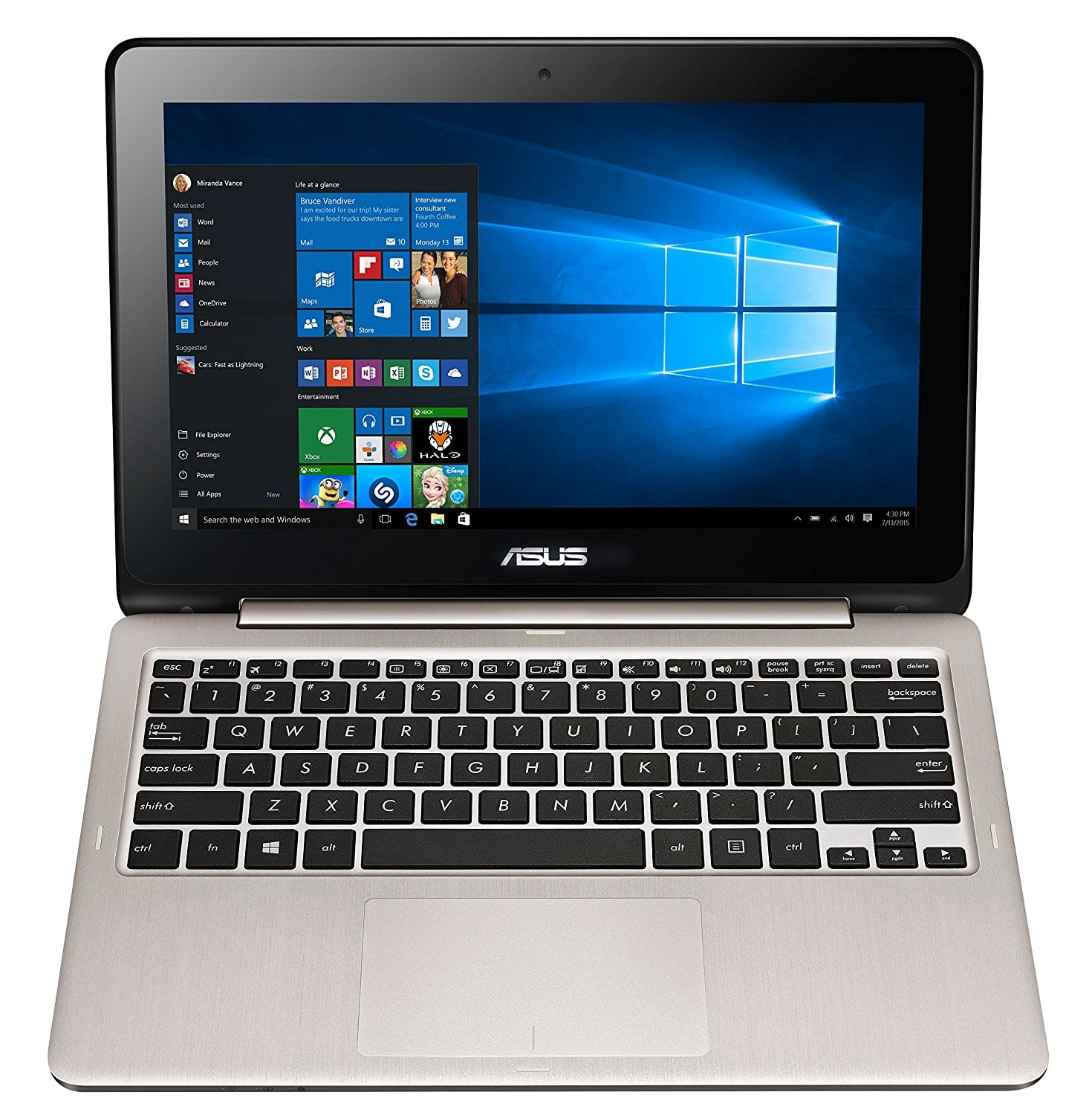 "ASUS VivoBook Laptop (11.6"" Full HD Touch, Celeron 2.48 GHz, 4GB, 32GB) $199 @Amazon + FS"