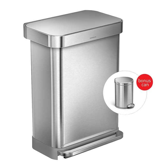 Costco Wholesale: 2-Count Simplehuman Rechargeable Sensor Soap Dispenser $79.99+FS or Step Can bundle $140