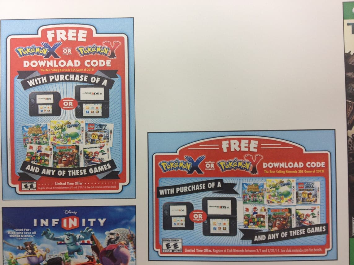 Free Pokemon X/Y when you register a Nintendo 2DS/3DS/3DS XL and 1 of 6 eligible games on Club Nintendo **Now Live!**